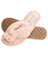 Jessica Simpson Plush Cozy Faux Shearling Thong Slide On Women's Slipper... - $15.24