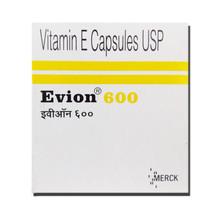 evion Vitamin E 600 mg Capsules For Face Hair Acne Nails MERCK 100 Caps - $11.87