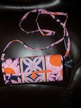 Vera Bradley Crossbody Sleek Wallet Choice Retired Loves Me Euc Retired - $40.50