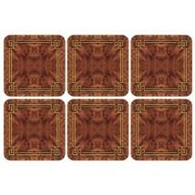 PIMPERNEL Walnut Burlap Coasters square set of 6 - $545,32 MXN