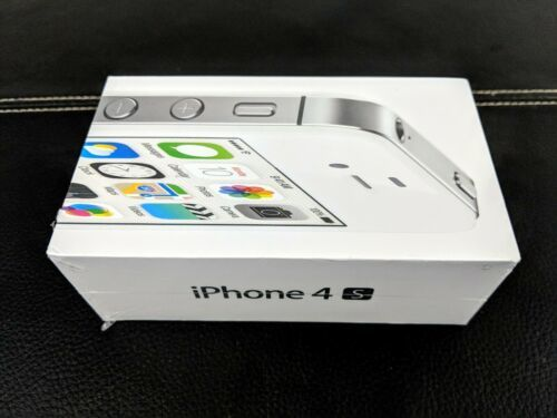 New Factory Sealed Apple iPhone 4s 8GB A1387 (COLLECTABLE!!) (WHITE) 1-2-3-4-5