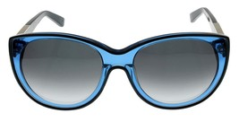 New Calvin Klein Collection Sunglasses Women Blue Transparent Cateye CK7... - $147.51