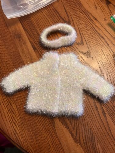 Primary image for HTF Rare American Girl Doll Pleasant Company White Sparkle Coat Jacket head band