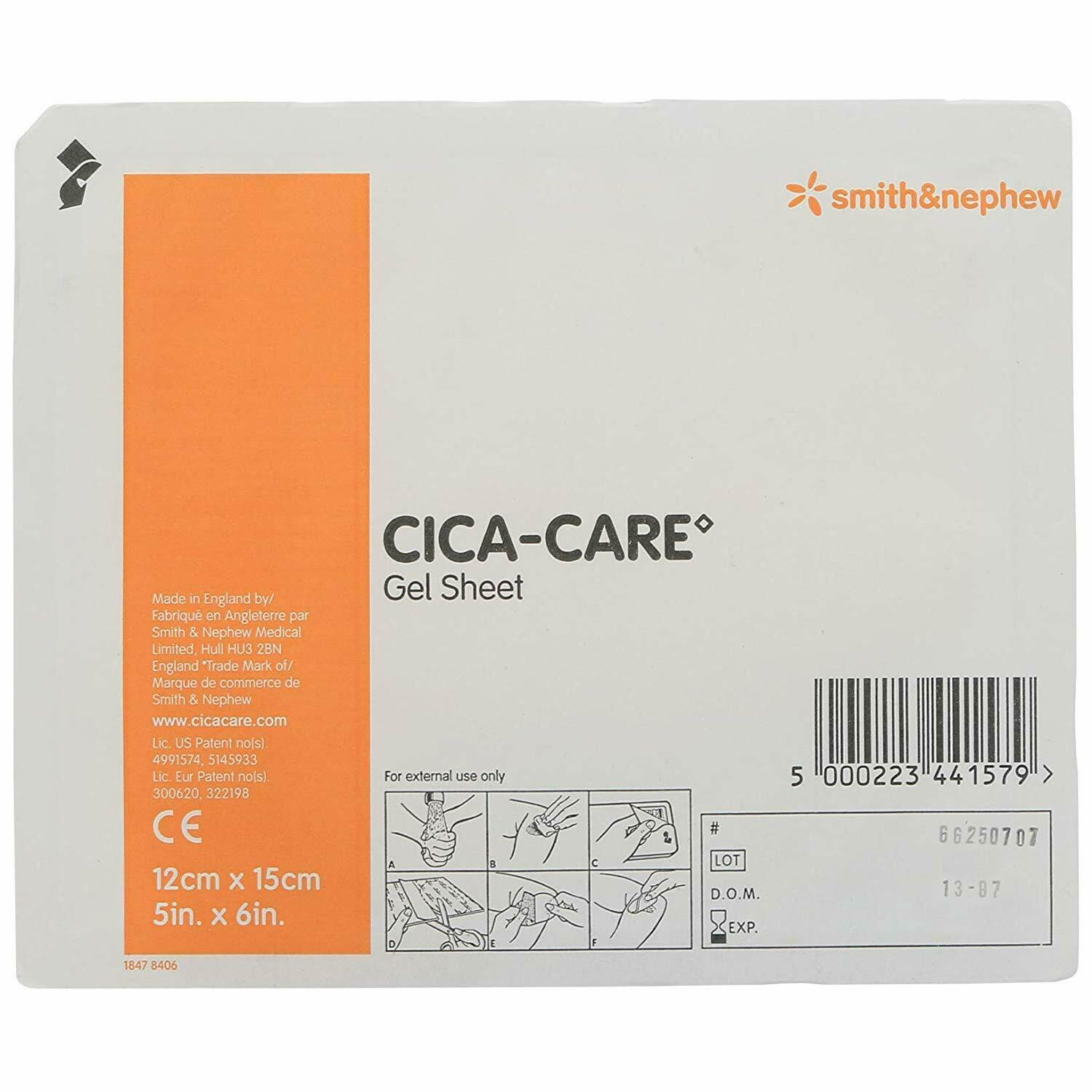"Cica-Care Silicone Gel Adhesive Sheet (5"" x 6"")"
