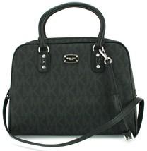 Michael Kors PVC Black Satchel Bag Logo Monogram Large Handbag RRP£345 - $253.58