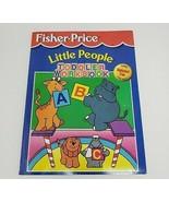 VINTAGE 1997 FISHER PRICE LITTLE PEOPLE TODDLER WORKBOOK ALPHABET NUMBER... - $18.70