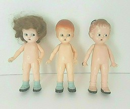 Vintage Lot 3 Knickerbocker Plastic Co.Doll's  6'' Inches - $46.74