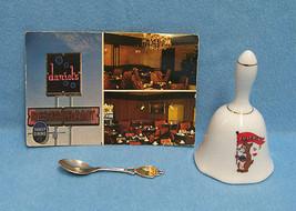 Vintage Chicago Illinois Souvenir Lot of Spoon Bell & Postcard - $13.85