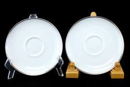 """Lot Of Two 6.25"""" Easterling China Caprice Saucers From Bavaria, Germany - $8.94"""