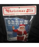 NEW VINTAGE 1982 FIBRE-CRAFT CHRISTMAS KIT MR SANTA CLAUS CROCHET DOLL #... - $31.09