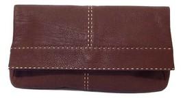 Michael Kors Hutton Sammlung Dunkelbraun Umgeschlagen Clutch Tasche aus ... - $648.60 CAD