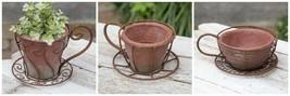 Unique Coffee Espresso Latte Cup Decorative Flower Pots Indoor Outdoor G... - $23.51+