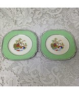 Vintage, Rare, Empire Ware, England, Green Trim Gaudy Blue Willow, 2pc 5... - $42.70