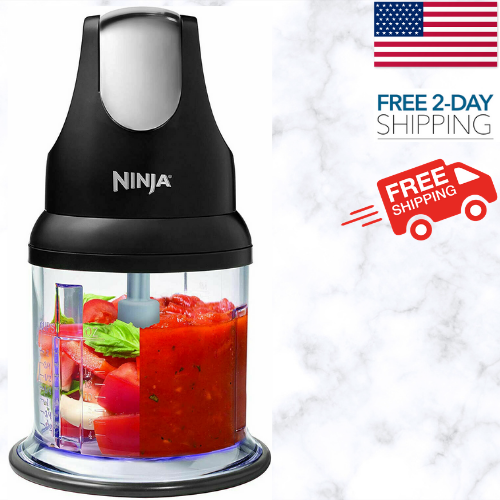 Ninja Food Chopper Express Chop 200W 16 Oz Bowl Food Processor Little Workhorse - $38.99