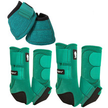 Classic Equine Horse Bell Front Hind Boots Classic Legacy System Emerald... - $209.97