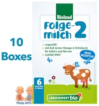 Lebenswert Stage 2 Organic Infant Formula New Recipe 10 Boxes 500g Free ... - $201.95
