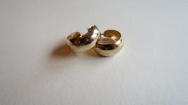 Vintage 14k Yellow Gold Stamped Half Hoop Earrings by CARLA 23mm x 8mm 2.14g - $103.95