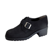 PEERAGE Aspen Women's Wide Width Leather Shoes with Adjustable Buckle - $44.95