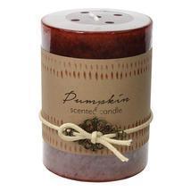 #12010925 *Pumpkin Scented Pillar Candle 3X4* - $12.48