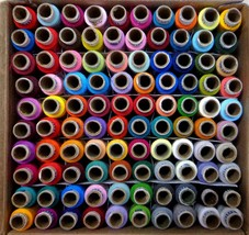 3PLY Coats Polyester Machine Thread 100 Spools multicolor with free ship - $37.62