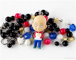 Wanpanman Saitama Anime Figure Necklace, Collectibles, Kawaii Jewelry, H... - $40.00