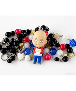 Wanpanman Saitama Anime Figure Necklace, Collectibles, Kawaii Jewelry, H... - $40.00