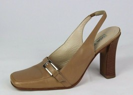 Via Spiga women's shoes heel classic slingback leather made in Italy siz... - $21.99