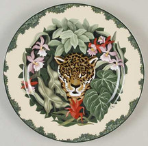 Sakura Causal Dining Oneida Rain Forest Leopard Salad Plate by Claire Mu... - $14.99