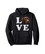 I Love My Chocolate Lab Hoodie | Labrador Retriever Dog Gift - $35.78