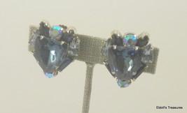 d and e fancy cut shield montana blue light sapphire blue baguette clip ... - $29.95