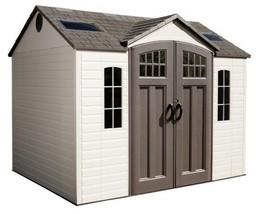 Lifetime Buildings 10x8 Plastic Garden Storage Shed w/ Floor (model 60095) - $1,279.95