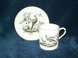 Royal Worcester Black Pheasant Demitasse Cup & Saucer Set s - $14.84
