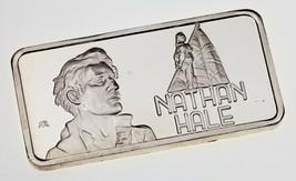 1974 Die Hamilton Ungebraucht Kunst Barren 1 Oz. Silber BAR Von Nathan Hale - $49.00