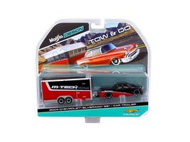 2004 Chevrolet Silverado SS with Car Trailer Red / Black Tow & Go 1/64 Diecast M - $25.25