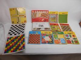 Old Vtg LEO TOYS 50 GAMES Play set Board Games Gameboard Dice Tokens COM... - $29.69