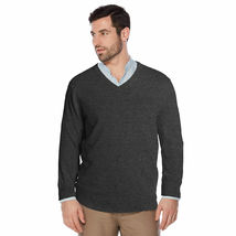 Berlioni Italy Men's Premium Slim Fit Microfiber V-Neck Dress Pullover Sweater image 5