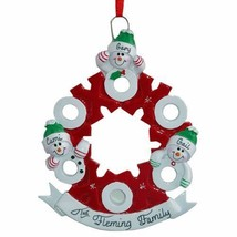 Hugs & Kisses Wreath 3 4 5 6 Personalized Christmas Ornament Kit - $14.95