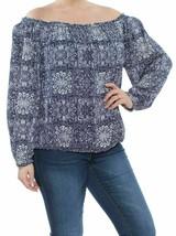 New $80 Tommy Hilfiger Off-The-Shoulder Blue Mandala- Indigo Shirt Blouse 1X - $21.23