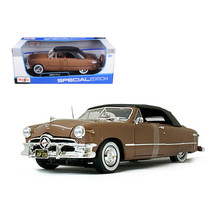 1950 Ford Convertible Soft Top Brown/Bronze 1/18 Diecast Model Car by Ma... - $49.36
