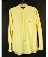 RALPH LAUREN Size L Men's Yellow Checked Cotton Shirt - $22.99