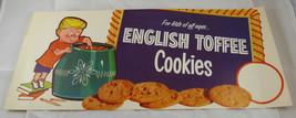 "Vintage 1950-60's ENGLISH TOFFEE COOKIES  DISPLAY/ AD POSTER     7 1/4 ""... - $12.34"