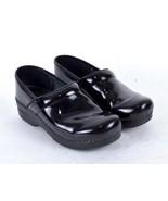 Dansko Black Leather Occupational Nursing Clogs Work Shoes Womens 38 / 7... - $38.60