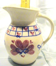 Collectible Shannon & Daughters Large Round Pitcher - Ribbons - $35.95