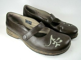 Teva Brown Leather Mary Janes Shoes 6032 Womens Size 7.5 EU 38.5 - $21.78