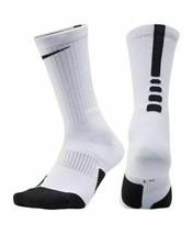 NIKE Men's Basketball Elite Cushioned Crew Basketball White Socks Size S... - $11.88