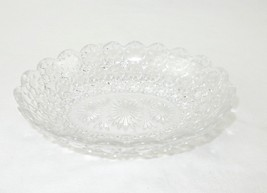 "Pressed Clear Glass Candy/Nut Bowl, Serving Dish, Relish Dish, Oval 8"" x 6"" - $8.77"