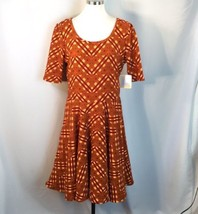 Lularoe Fall Colors Plaid Nicole Dress Stretch 2XL USA - $51.48