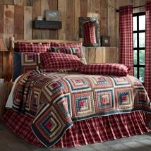 4-pc Braxton Queen Quilt Set - Log Cabin Patch - Vhc Brands Heirloom Quilt Set