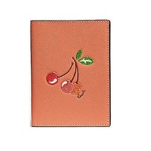 Coach Passport Case with Cherry Light Coral