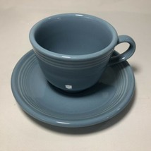 Fiesta Periwinkle Blue Cup And Saucer Set Contemporary Fiestaware Coffee Tea - $8.86